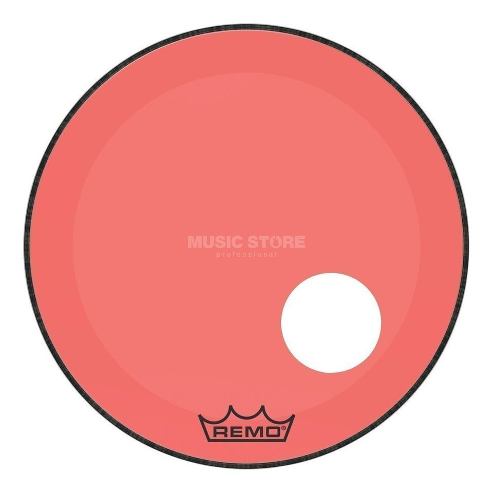 "Remo Powerstroke P3 Colortone & Offset Hole Red 22"" Product Image"