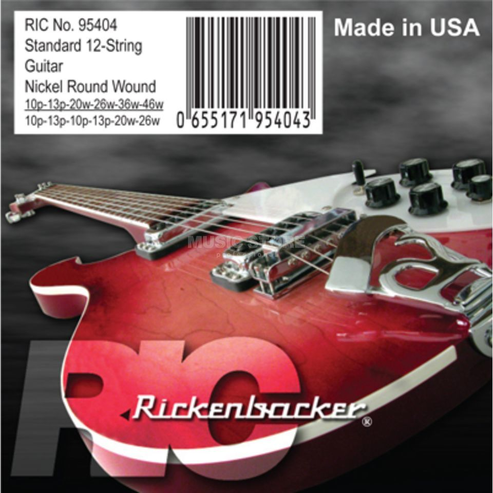 Rickenbacker E-Guitar Strings 10-46 12-String Nickel, 95404 Image du produit