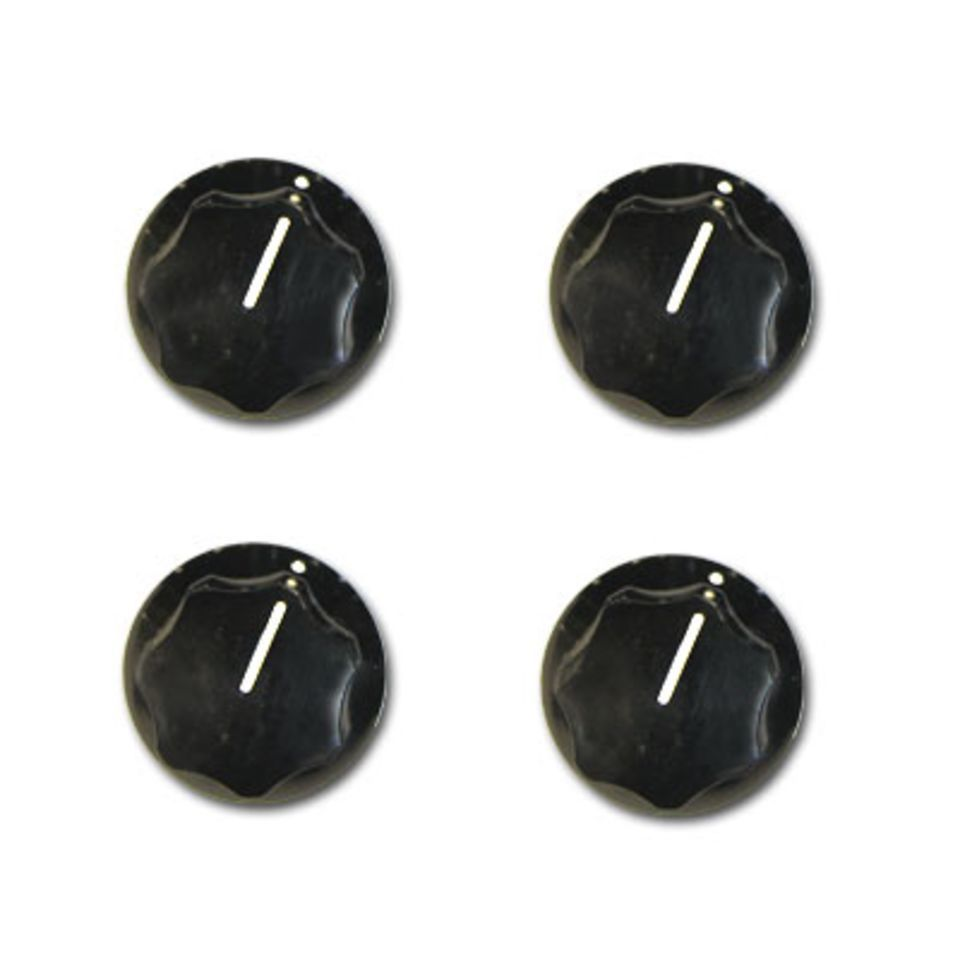 Rickenbacker Knobs Vintage Bass Black Set of 4 Produktbild