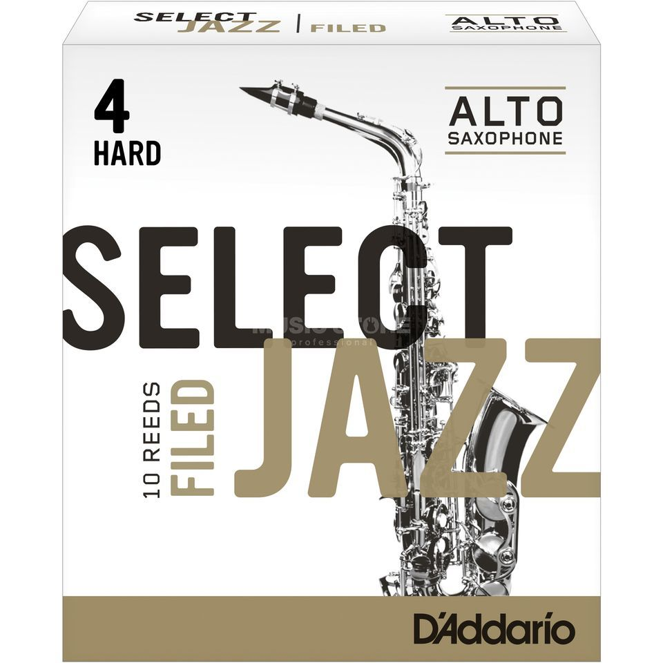 Rico Select Jazz Filed Alto Sax Reeds 4H Box of 10 Zdjęcie produktu