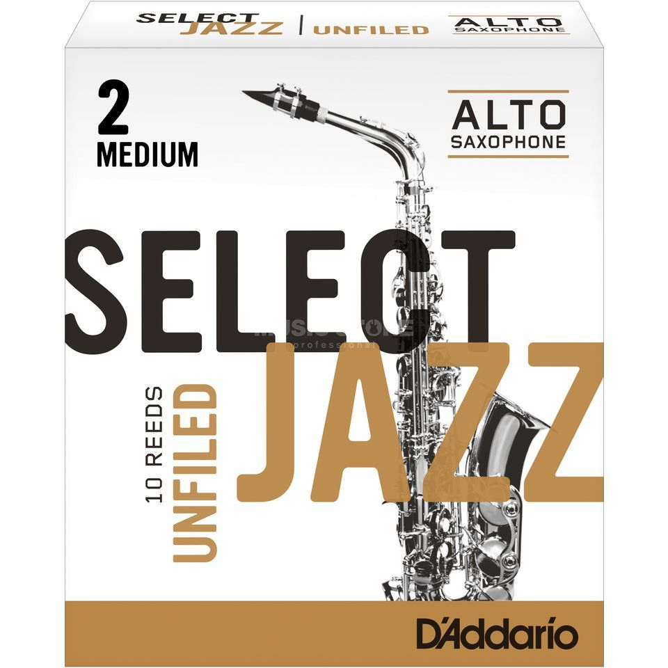 Rico Select Jazz Unfiled Alto Sax Reeds 2M Unfiled Box of 10 Immagine prodotto