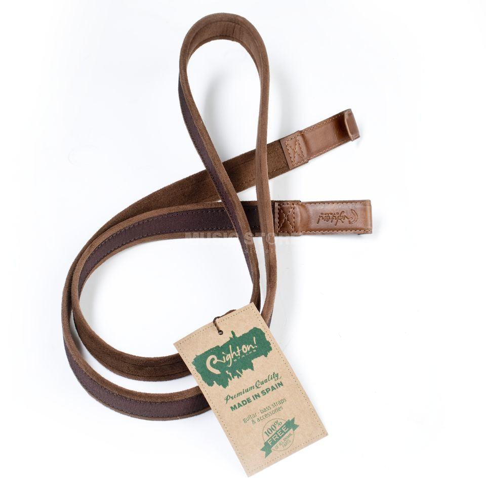 RightOn! Straps Nylon Double Hook Brown Product Image