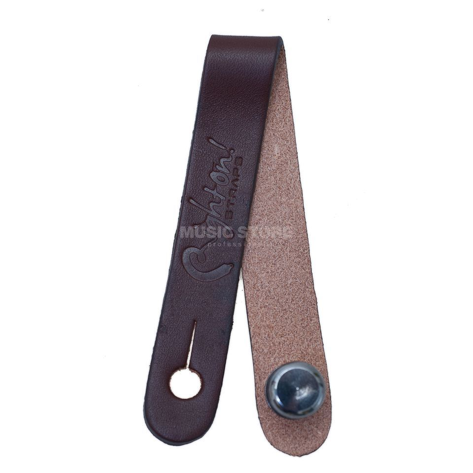 RightOn! Straps Straplink Brown Acoustic Guitar Strap Button Produktbillede