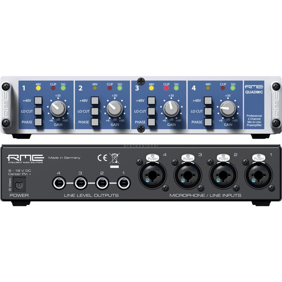 RME QuadMic II 4-Channel Mic/Line Preamp Produktbillede