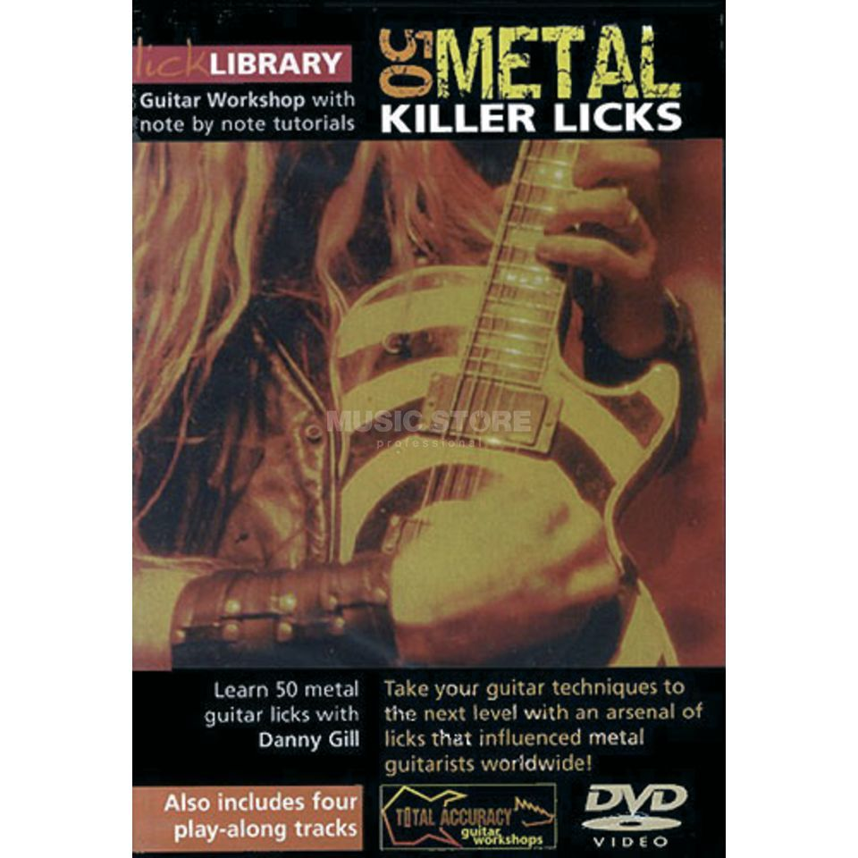 Roadrock International Lick Library: 50 Metal Killer Licks DVD Product Image