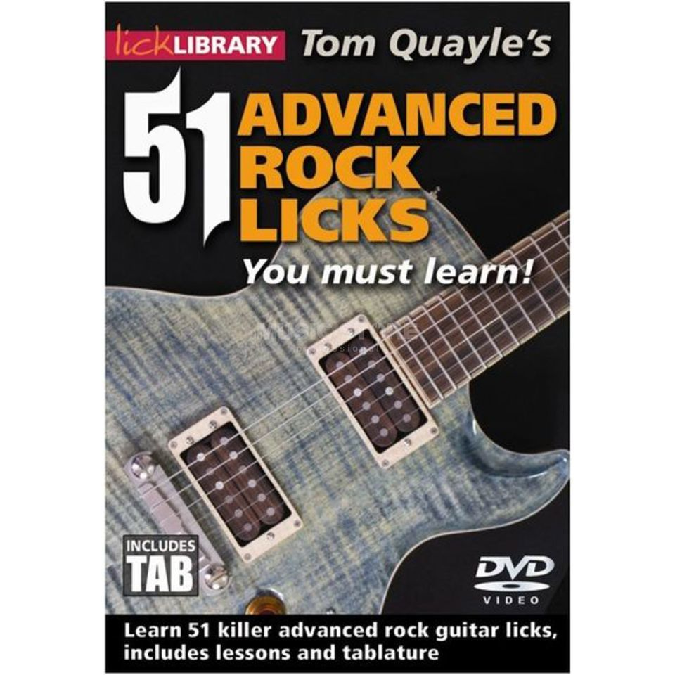 Roadrock International Lick Library: 51 Advanced Rock Licks You Must Learn DVD Produktbillede