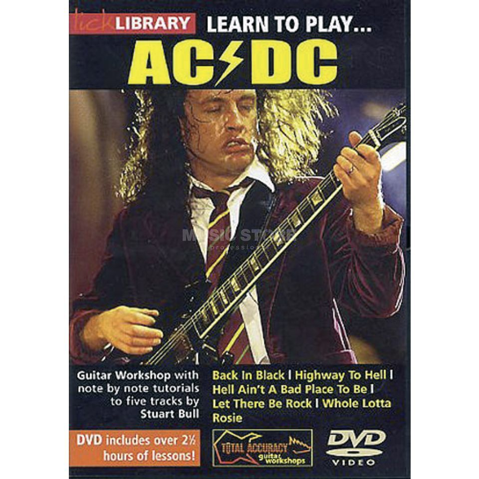 Roadrock International Lick library - AC/DC Learn to play (Guitar), DVD Produktbillede