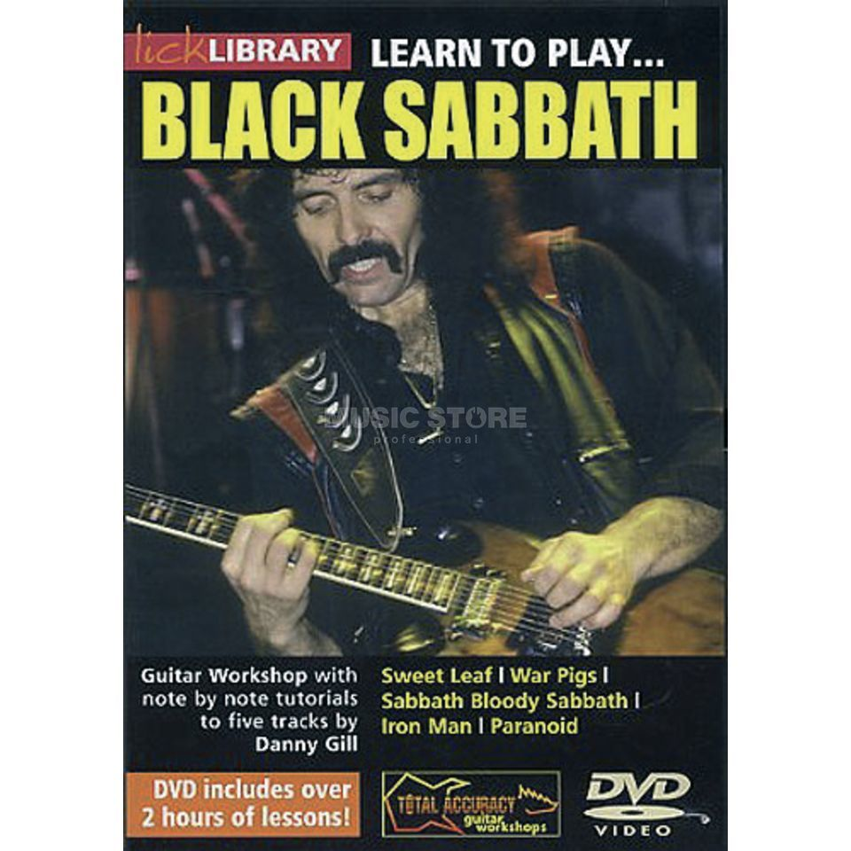 Roadrock International Lick library - Black Sabbath Learn to play (Guitar), DVD Produktbillede