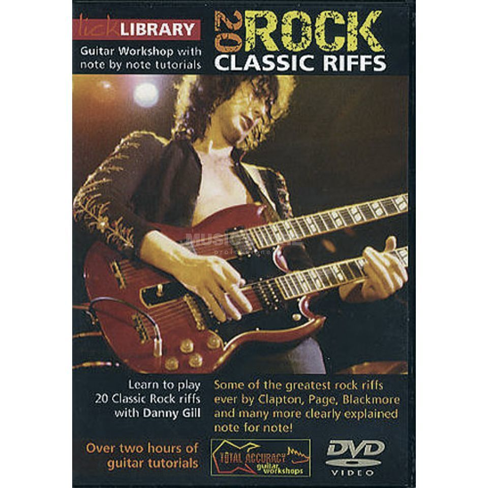 Roadrock International Lick library - Class Riffs Learn to play (Guitar), DVD Produktbillede