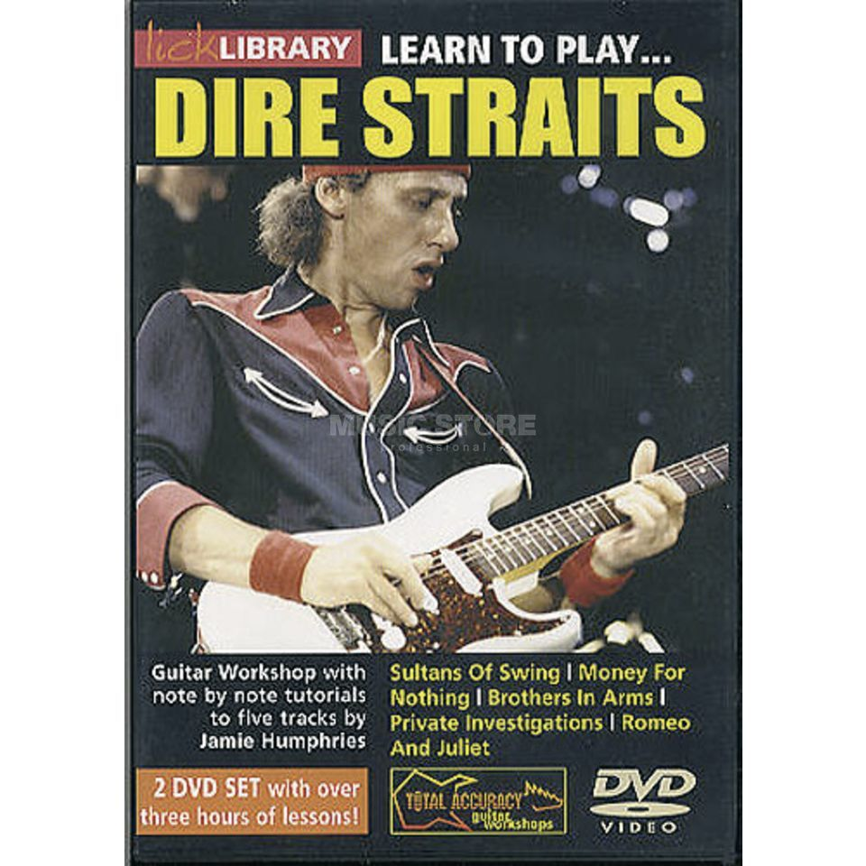 Roadrock International Lick library - Dire Straits Learn to play (Guitar), DVD Produktbillede