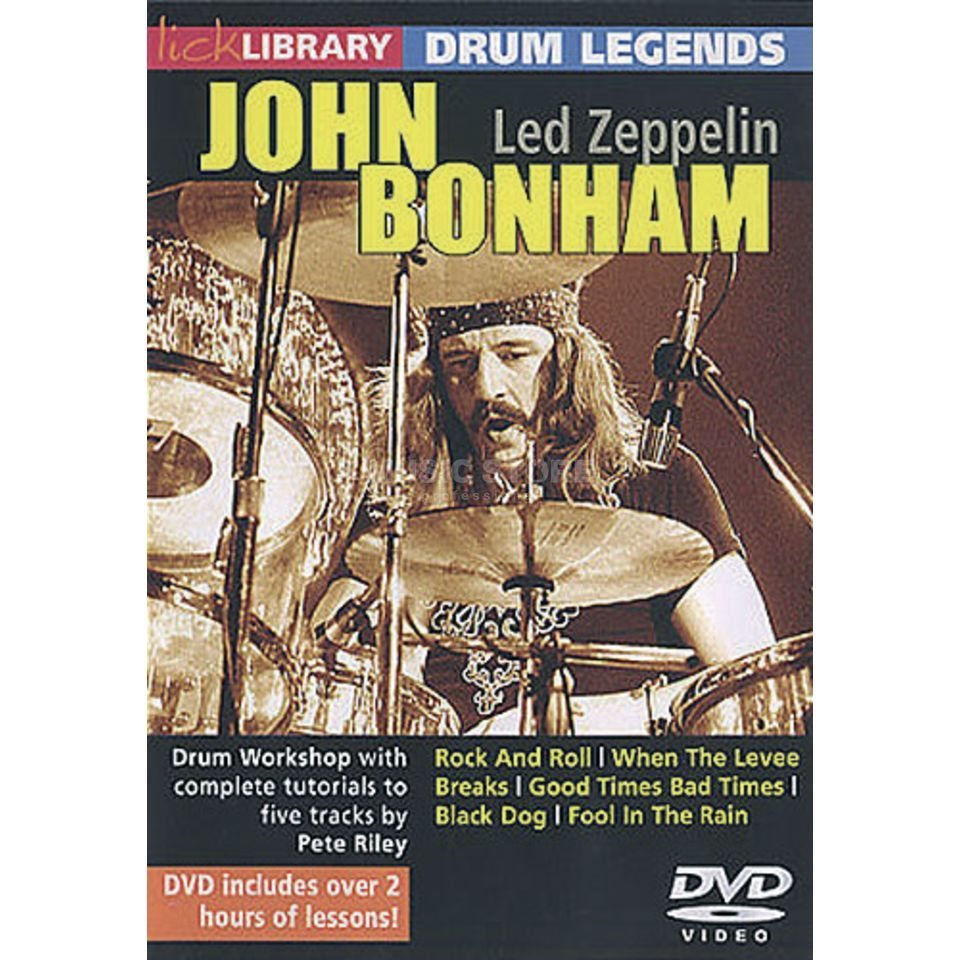 Roadrock International Lick Library: Drum Legends - John Bonham DVD Product Image