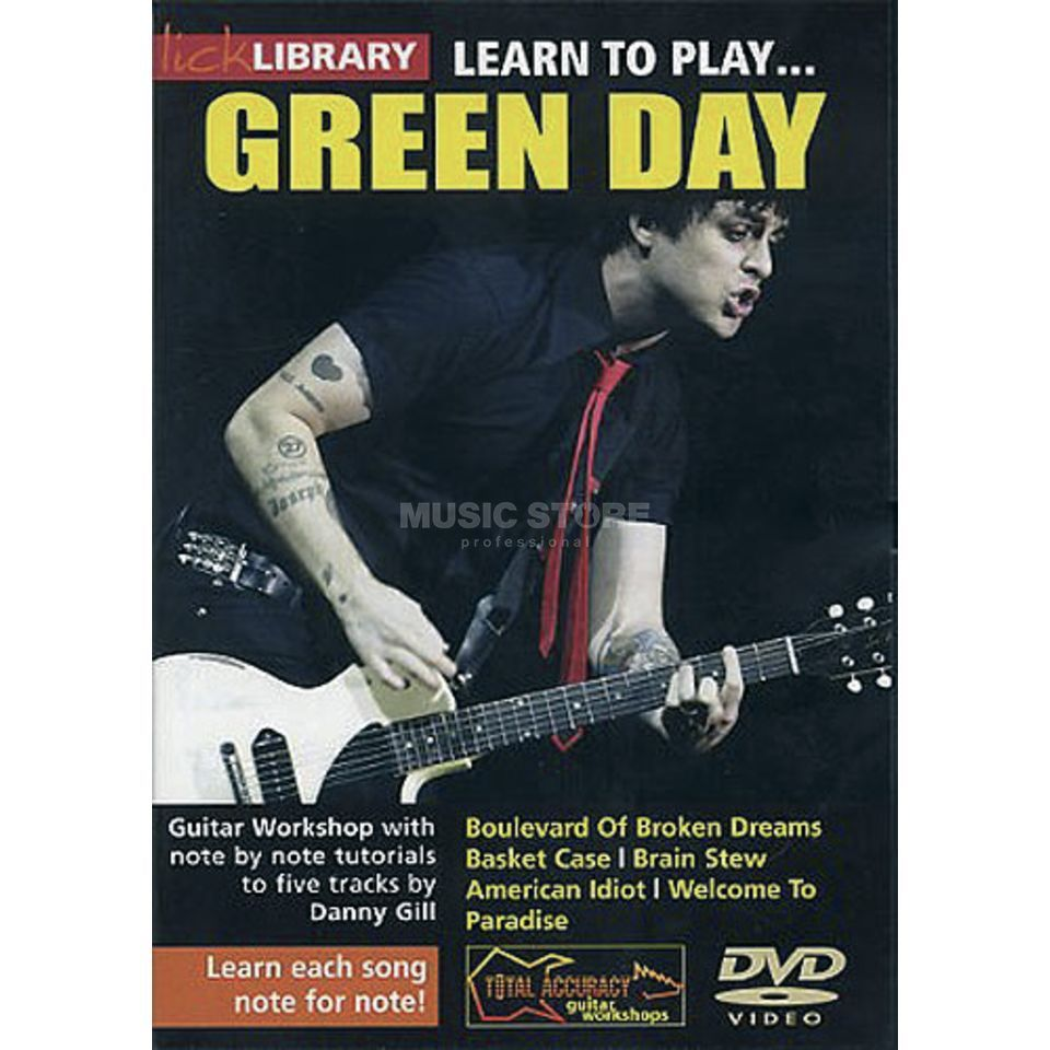 Roadrock International Lick library - Green Day Learn to play (Guitar), DVD Produktbillede