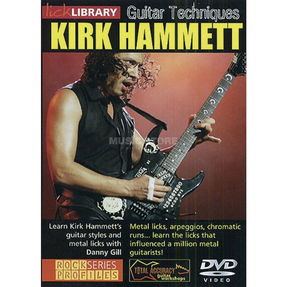 Roadrock International Lick Library: Guitar Techniques - Kirk Hammett DVD Produktbild