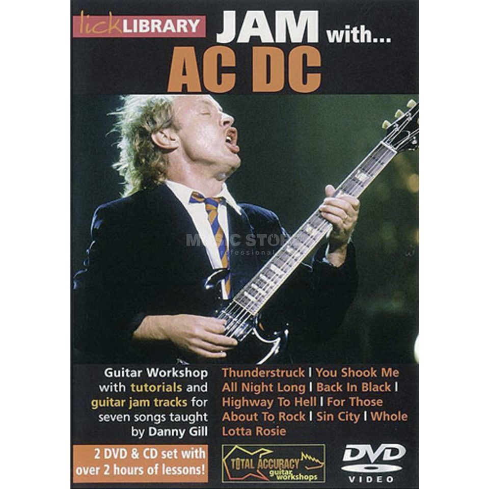 Roadrock International Lick Library: Jam With AC/DC DVD, CD Produktbild