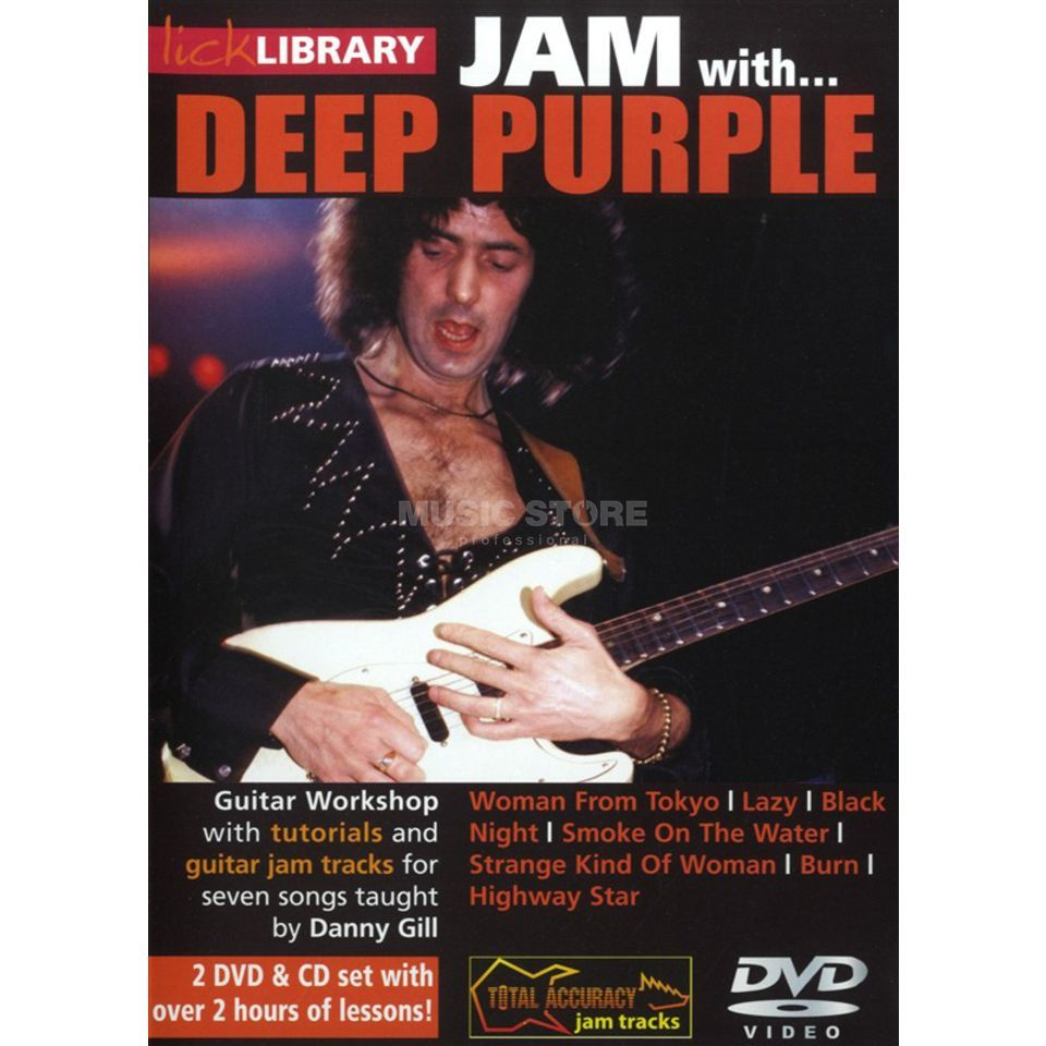 Roadrock International Lick Library: Jam With Deep Purple DVD, CD Изображение товара