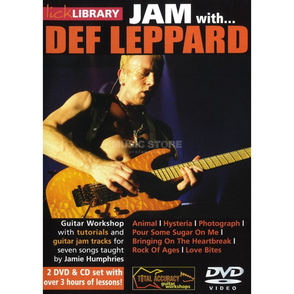 Roadrock International Lick Library: Jam With Def Leppard DVD, CD Produktbillede