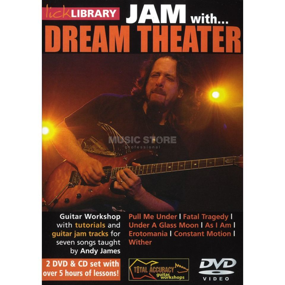 Roadrock International Lick Library: Jam With Dream Theater DVD, CD Produktbillede