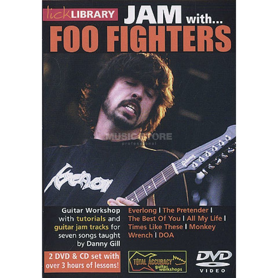 Roadrock International Lick Library: Jam With Foo Fighters DVD, CD Produktbillede