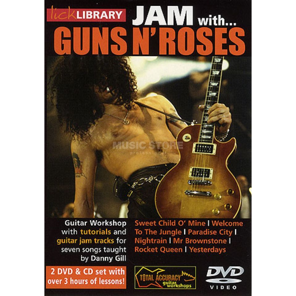 Roadrock International Lick Library: Jam With Guns N´ Roses DVD, CD Produktbillede