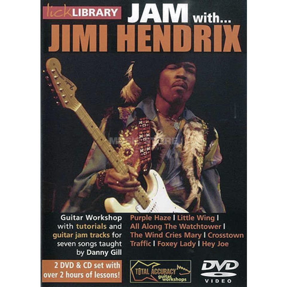 Roadrock International Lick Library: Jam With Jimi Hendrix DVD, CD Produktbild