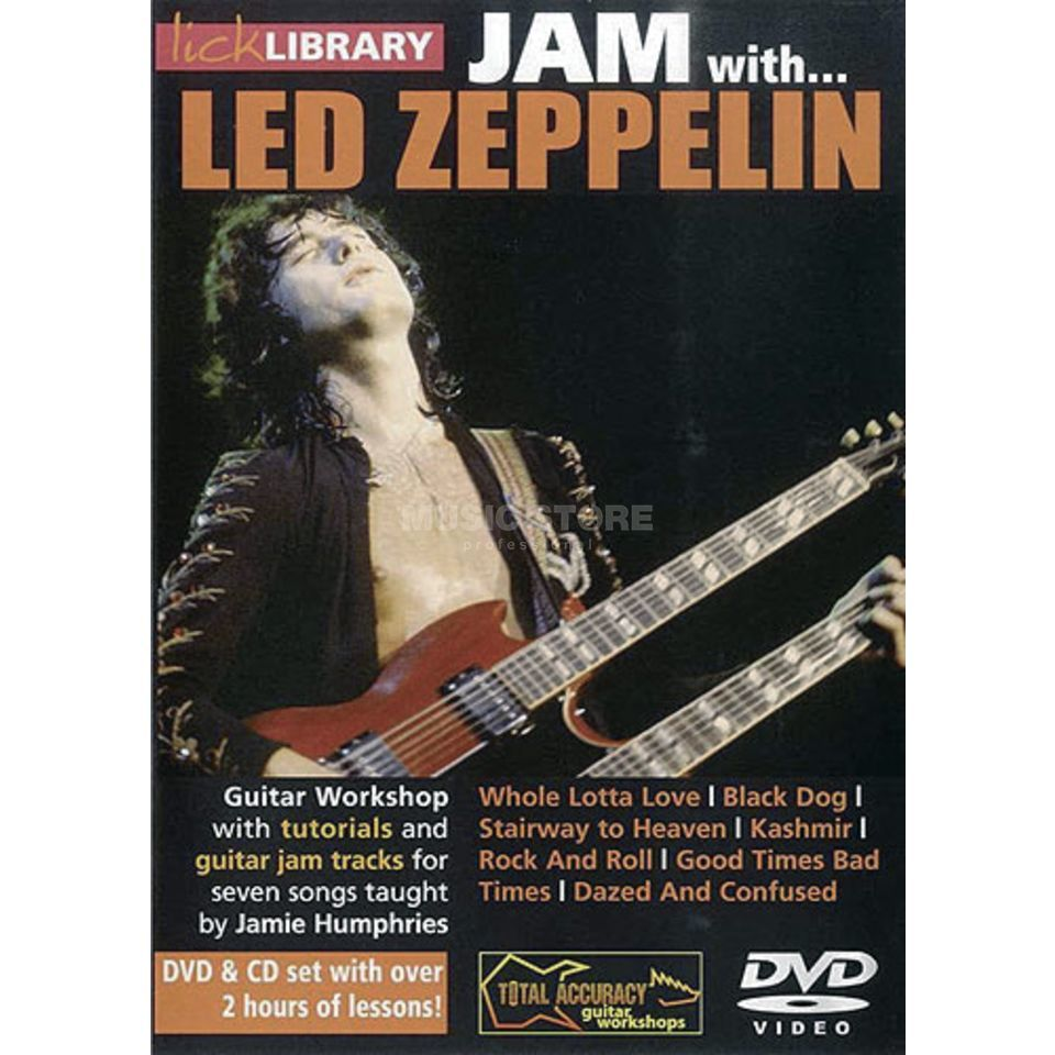 Roadrock International Lick Library: Jam With Led Zeppelin DVD, CD Produktbild