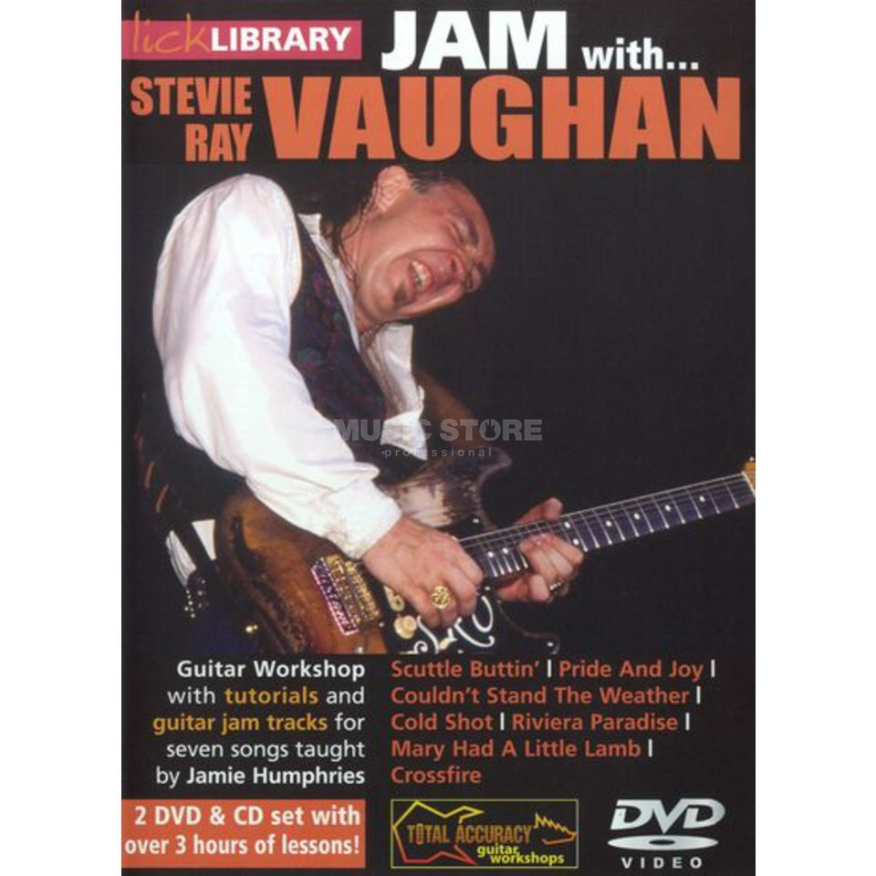 Roadrock International Lick Library: Jam With Stevie Ray Vaughan DVD, CD Produktbild
