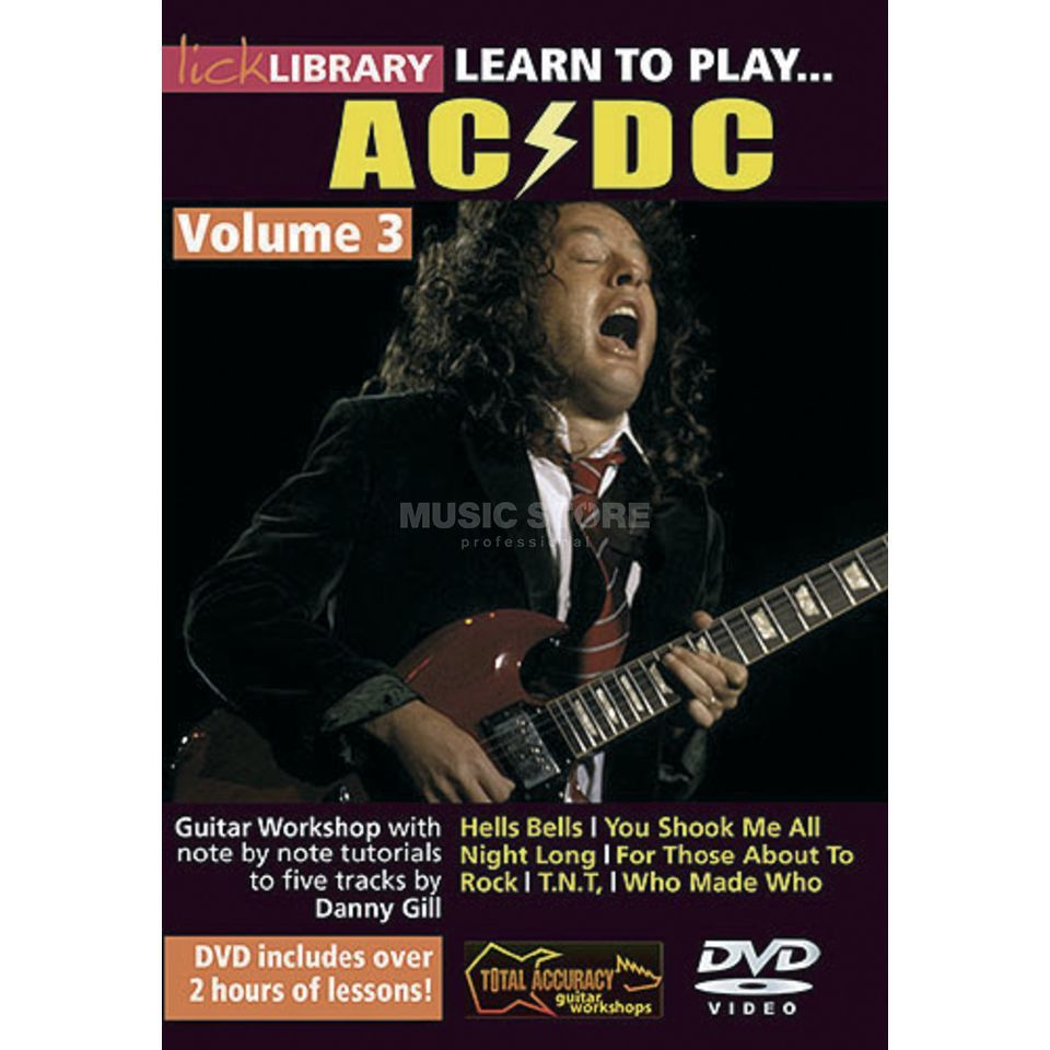 Roadrock International Lick Library: Learn To Play AC/DC 3 DVD Produktbillede