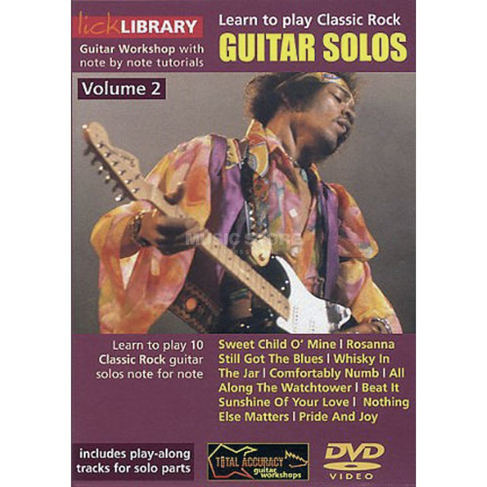 Roadrock International Lick Library: Learn To Play Classic Rock Guitar Solos 2 DVD Produktbillede