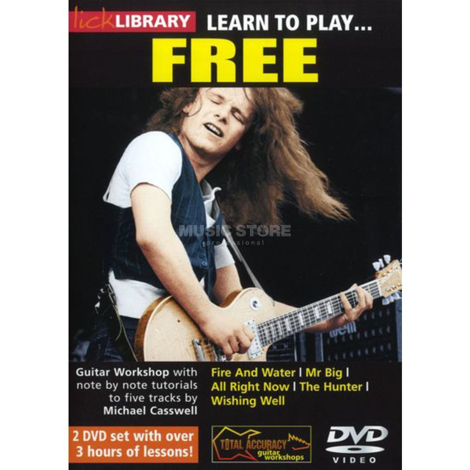 Roadrock International Lick Library: Learn To Play Free DVD Produktbillede