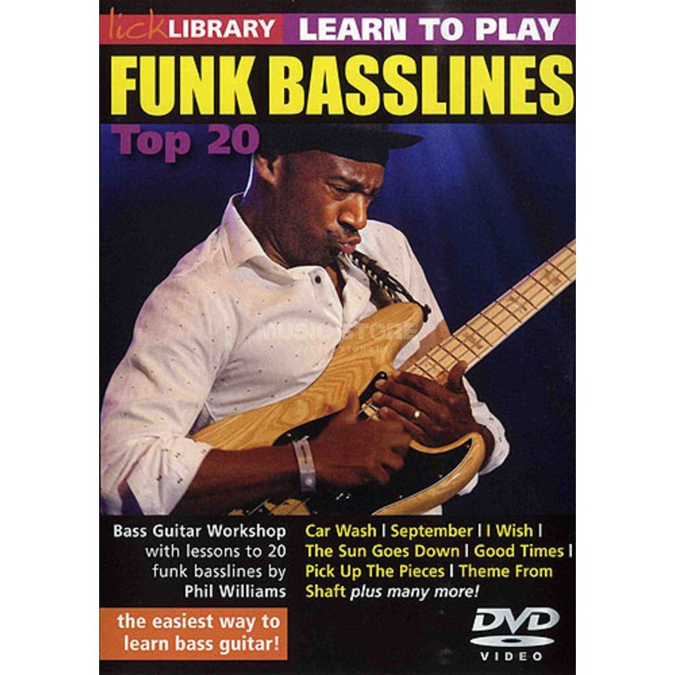 Roadrock International Lick Library: Learn To Play Funk Basslines - Top 20 DVD Produktbillede