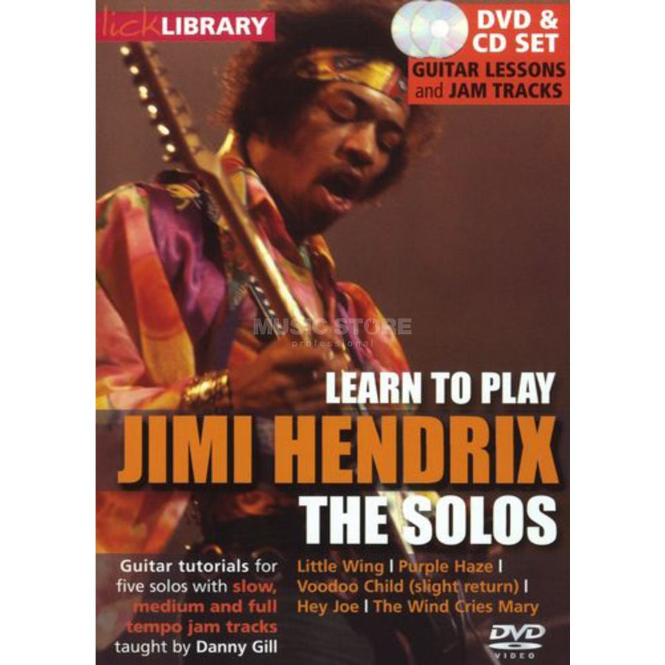 Roadrock International Lick Library: Learn To Play Jimi Hendrix - The Solos DVD Produktbillede