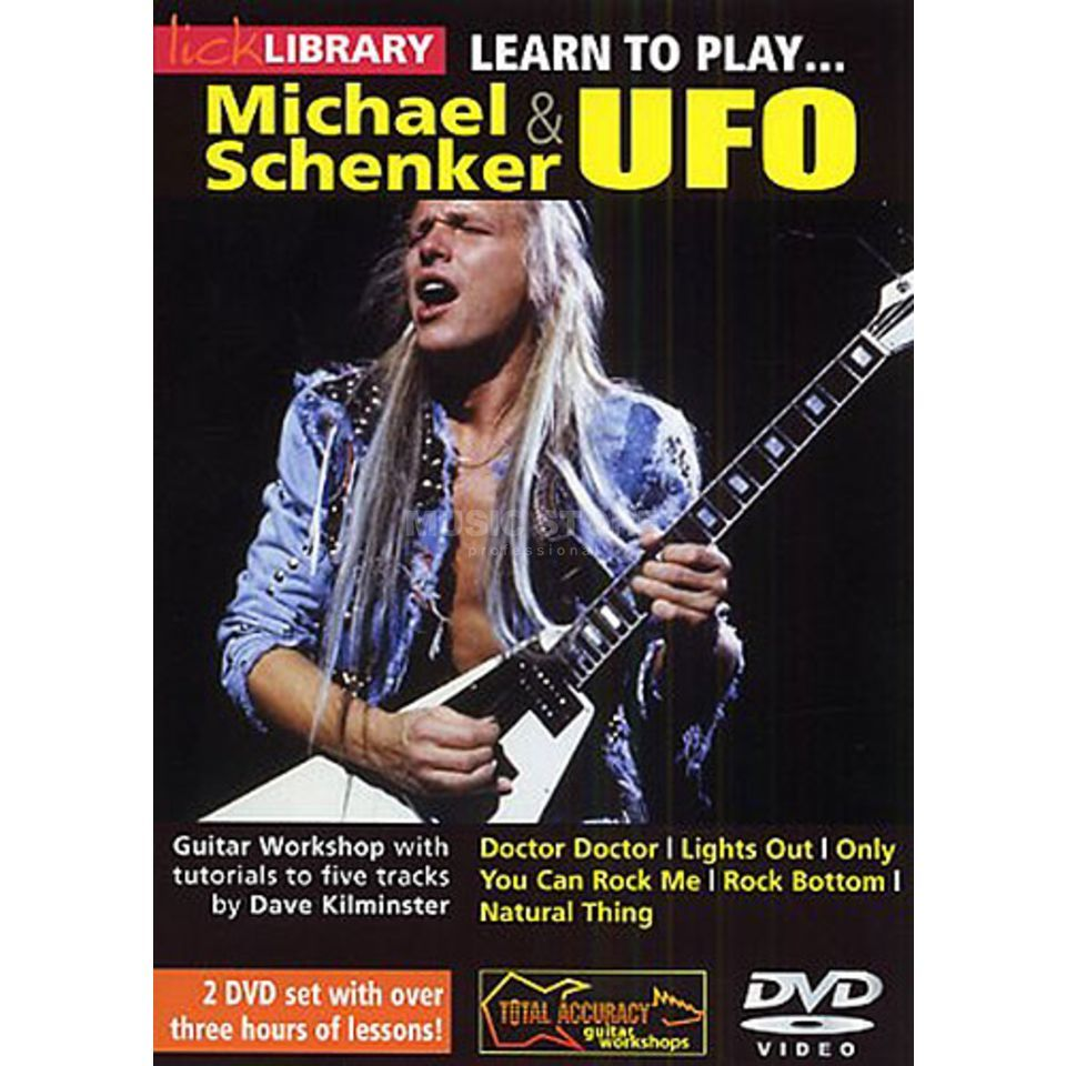 Roadrock International Lick Library: Learn To Play Michael Schenker And UFO DVD Product Image