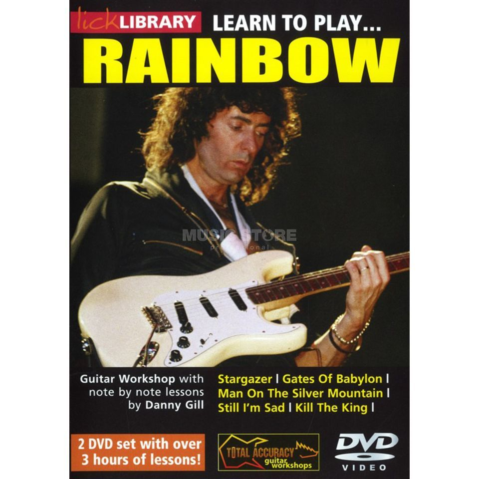 Roadrock International Lick Library: Learn To Play Rainbow DVD Produktbild