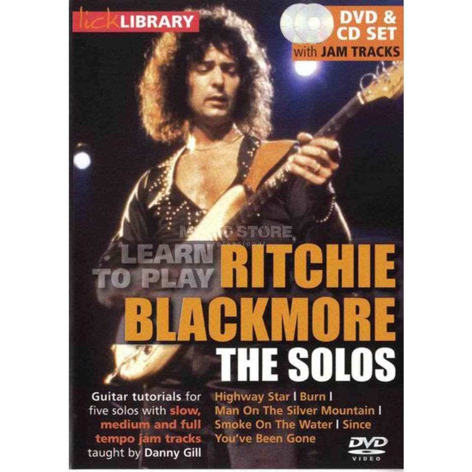 Roadrock International  Lick Library: Learn To Play Ritchie Blackmore - The Solos DVD Produktbild