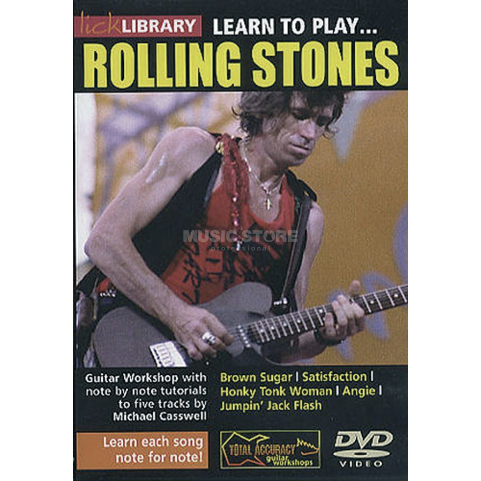 Roadrock International Lick Library: Learn To Play Rolling Stones DVD Produktbillede