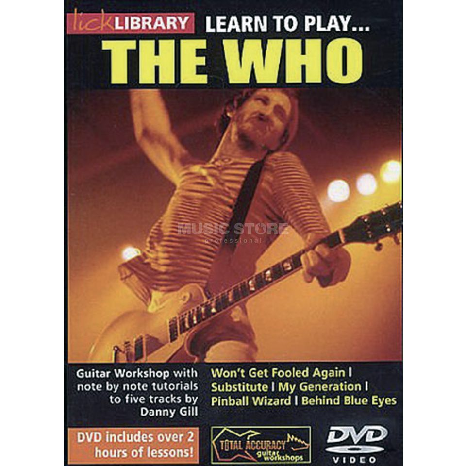 Roadrock International Lick Library: Learn To Play The Who DVD Produktbild