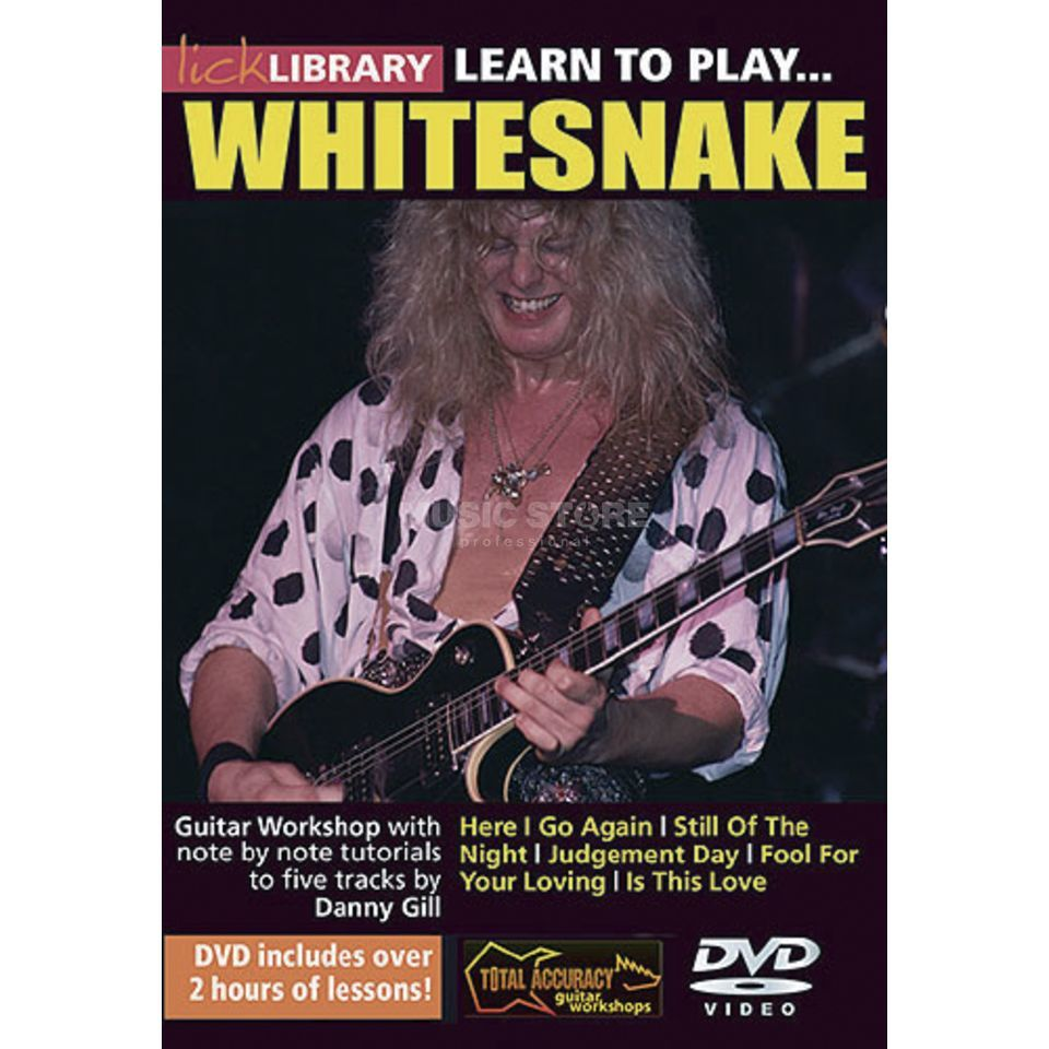 Roadrock International Lick Library: Learn To Play Whitesnake DVD Produktbillede