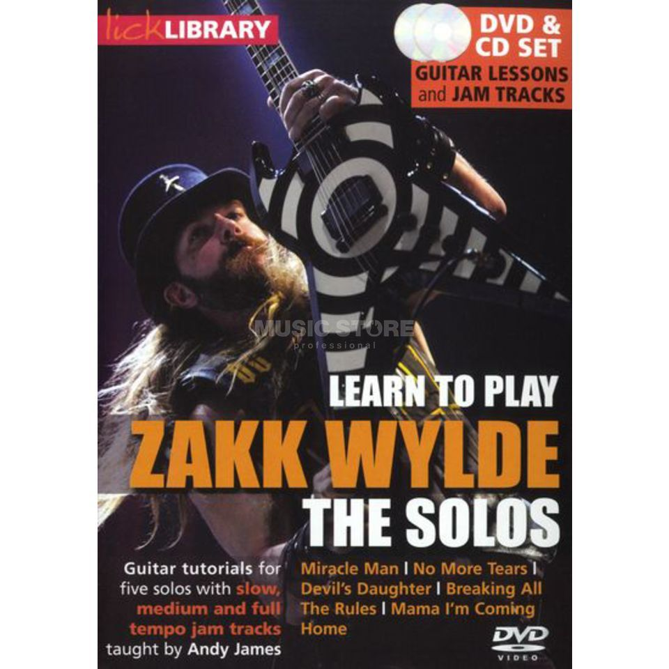 Roadrock International Lick Library: Learn To Play Zakk Wylde - The Solos DVD Image du produit