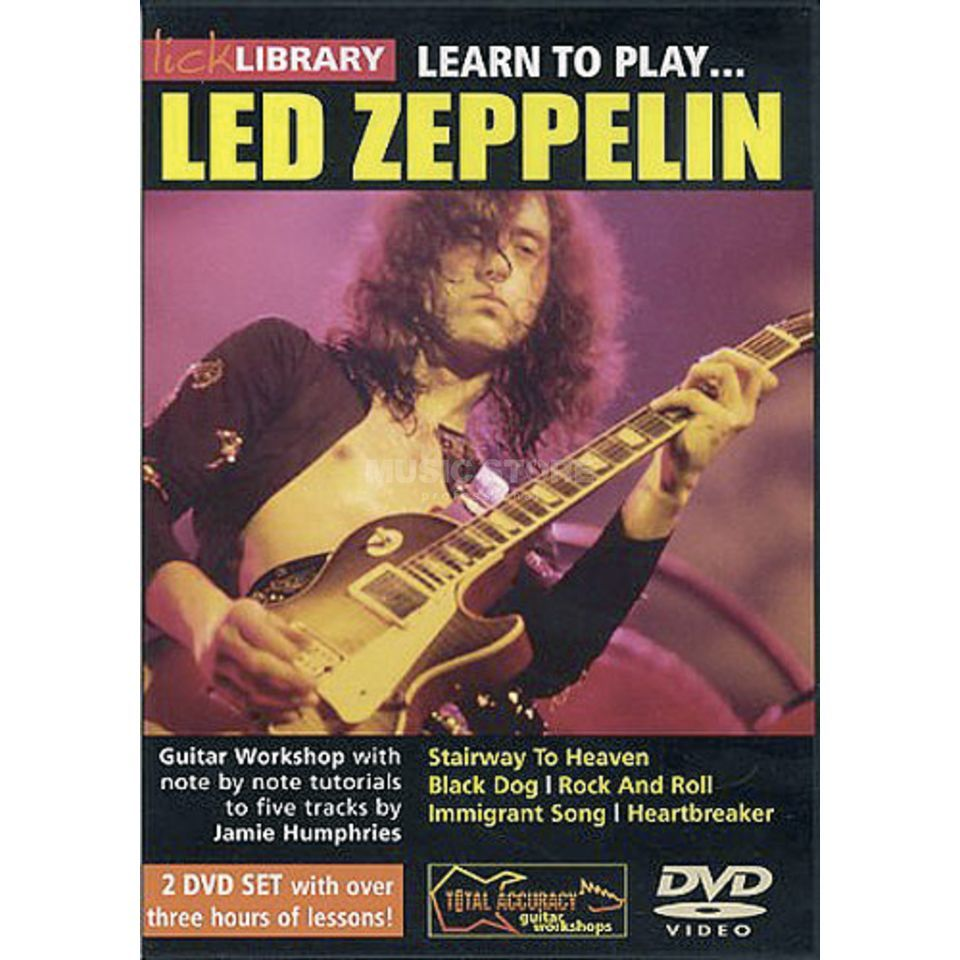 Roadrock International Lick library - Led Zeppelin Learn to play (Guitar), DVD Produktbillede