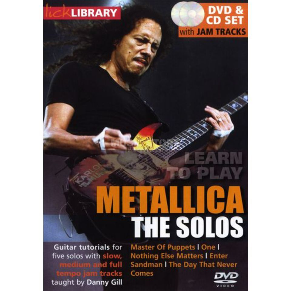 Roadrock International Lick Library -  Metallica The Solos, DVD and CD Product Image