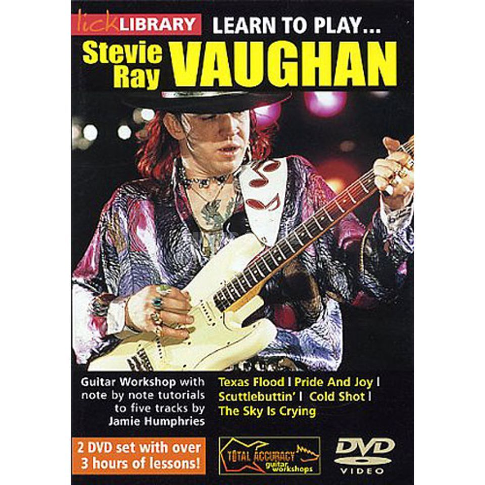 Roadrock International Lick library - S R Vaughan Learn to play (Guitar), DVD Produktbillede