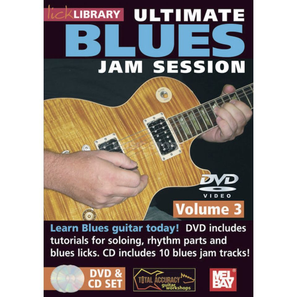 Roadrock International Lick Library: Ultimate Blues Jam Session 3 DVD/CD Produktbild