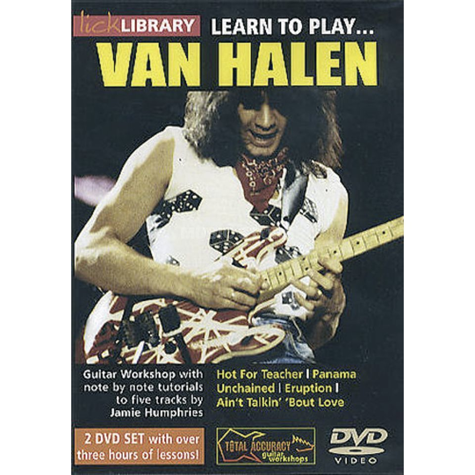 Roadrock International Lick library - Van Halen Learn to play (Guitar), DVD Produktbillede