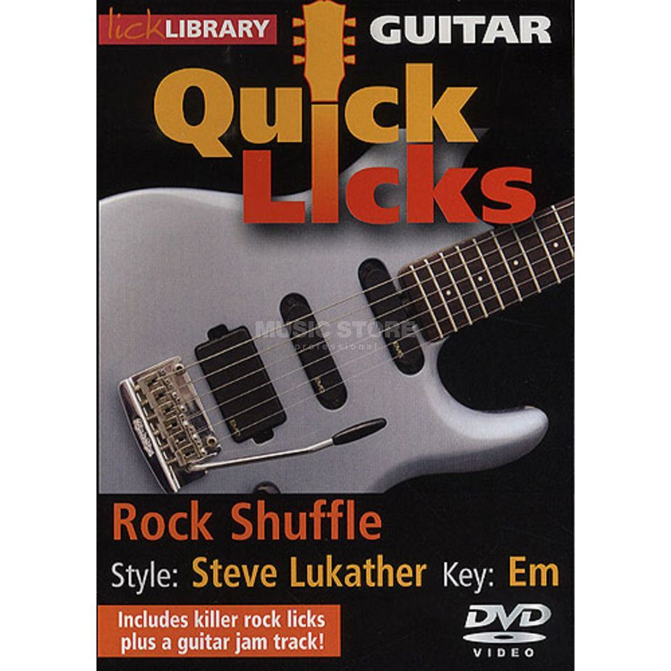 Roadrock International Quick Licks: Steve Lukather Rock Shuffle Key Of Em (DVD) Produktbillede