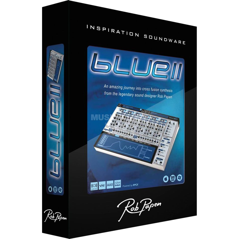 Rob Papen Blue II Software Synthesizer Download Produktbillede