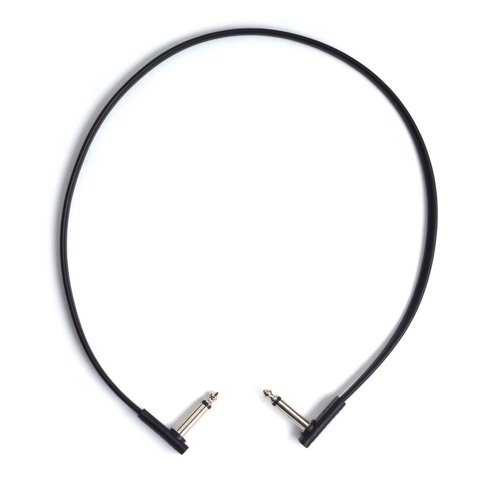 Rockboard Flat Patch Cable 60 cm Black Productafbeelding