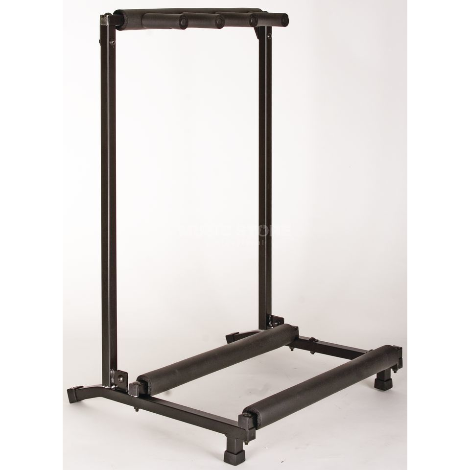 Rockstand 3er e guit bass multi stand flat pack for Stand pack