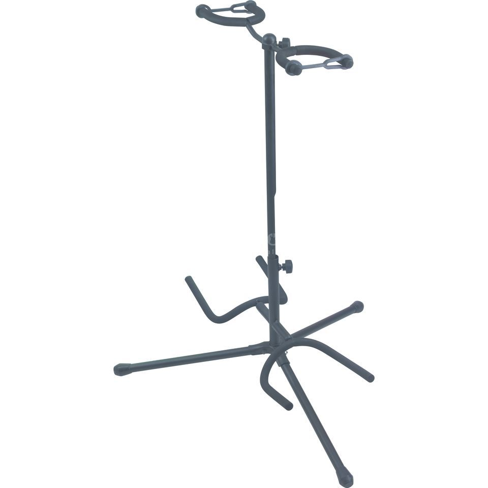 Rockstand Std. Guitar Stand for 2 Guit. HeightAdjustable, Folding Feet Produktbillede