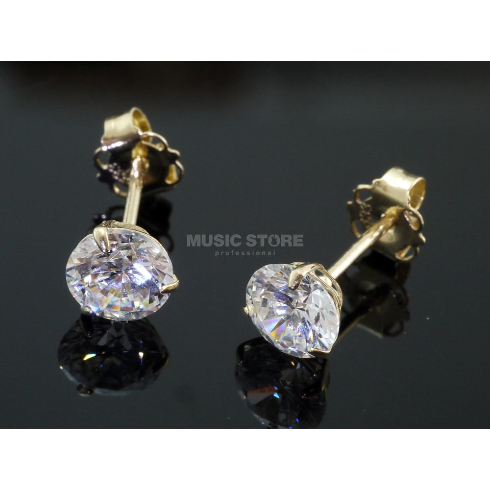 Rockys Earrings 3mm Gold 333/8 Karat, zirconia Produktbillede