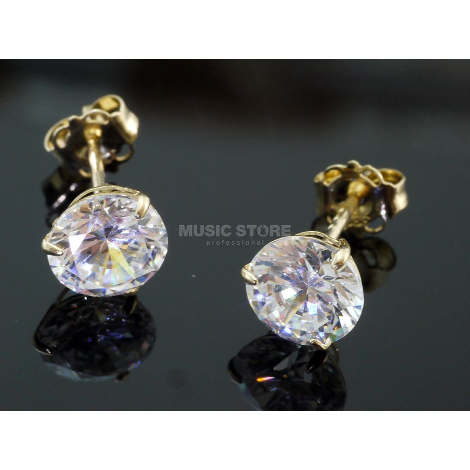 Rockys Earrings 5mm Gold 333/8 Karat, zirconia Produktbillede